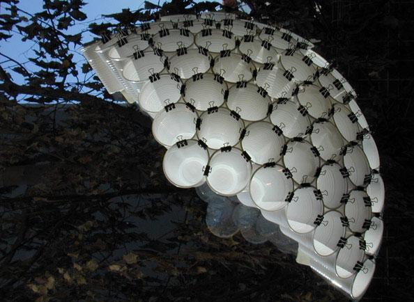 プラスチックコップで作ったライト