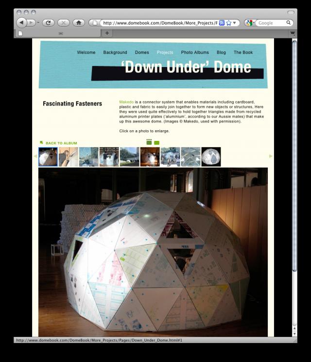 Domebookのプロジェクトにメイクドゥで作るドームが登場
